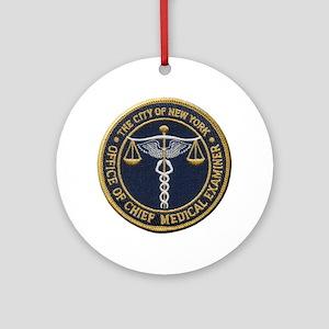New York Medical Examiner Ornament (Round)