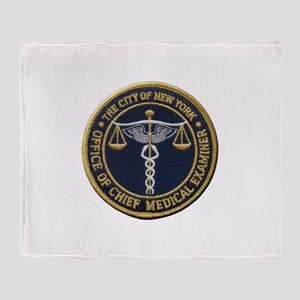 New York Medical Examiner Throw Blanket