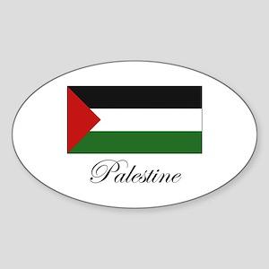 Palestine - Palestinian Flag Oval Sticker
