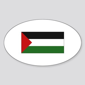 Palestinian Flag - Palestine Oval Sticker