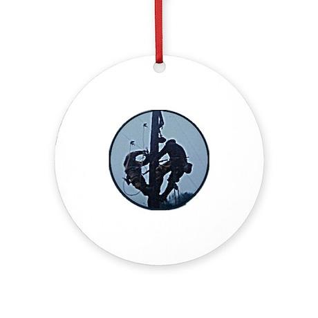 Lineman Ornament (Round)