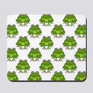 Cute Happy Frog Pattern Mousepad