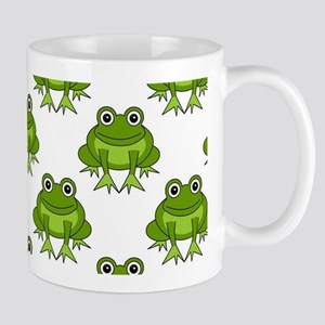 Cute Happy Frog Pattern Mug