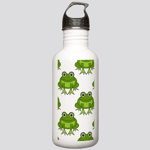 Cute Happy Frog Patter Stainless Water Bottle 1.0L