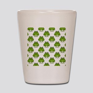 Cute Happy Frog Pattern Shot Glass
