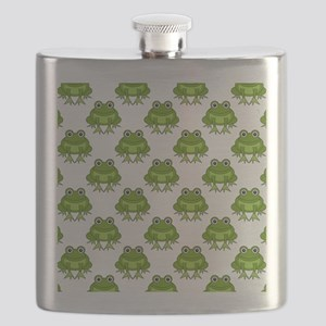 Cute Happy Frog Pattern Flask
