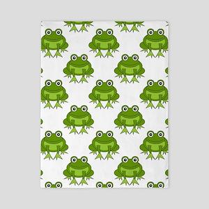 Cute Happy Frog Pattern Twin Duvet