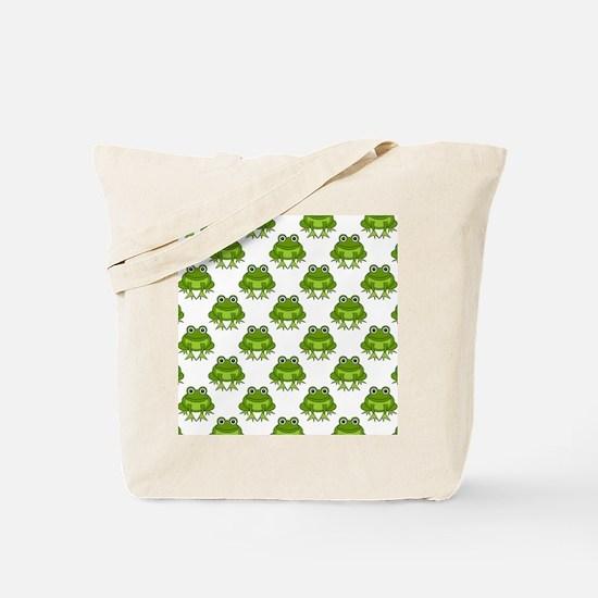 Cute Happy Frog Pattern Tote Bag