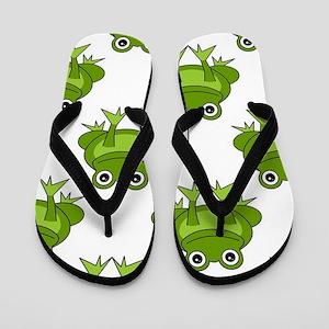 Cute Happy Frog Pattern Flip Flops