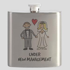Under New Management - Wedding Humor Flask