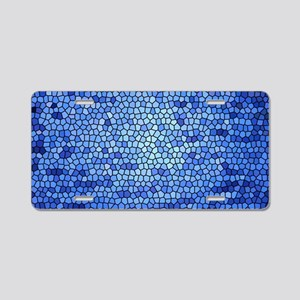Blue & purple color stained Aluminum License Plate