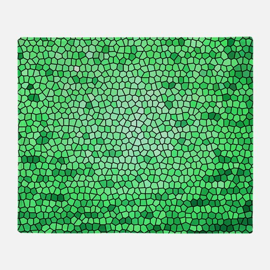 Green color stained glass pattern Throw Blanket