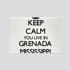 Keep calm you live in Grenada Mississippi Magnets
