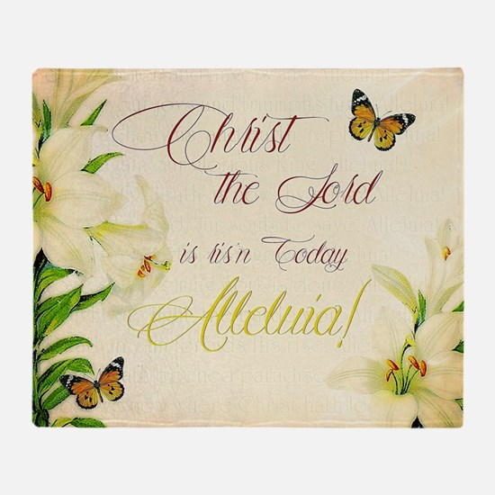 Christ the Lord is ris'n today Throw Blanket