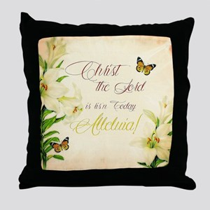 Christ the Lord is ris'n today Throw Pillow