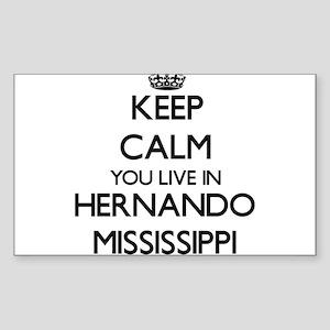 Keep calm you live in Hernando Mississippi Sticker