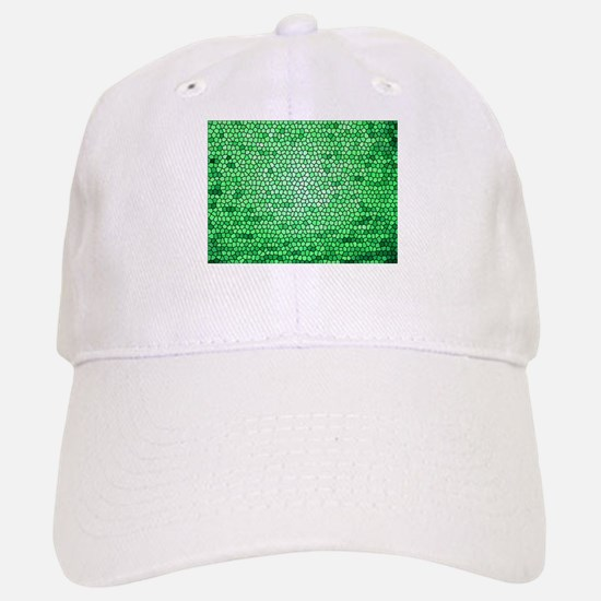 Green color stained glass pattern Baseball Baseball Cap
