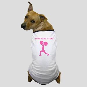 Pink Weightlifter (Custom) Dog T-Shirt