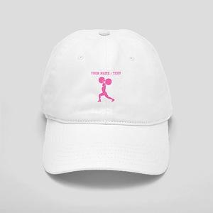 Pink Weightlifter (Custom) Baseball Cap