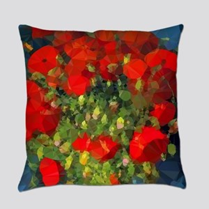 Van Gogh Red Poppies Floral Everyday Pillow