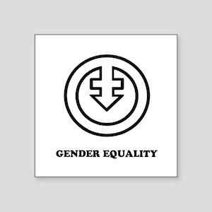 Gender Equality (outline version) Sticker