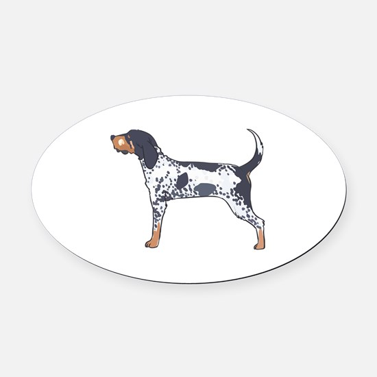 BLUETICK COONHOUND Oval Car Magnet