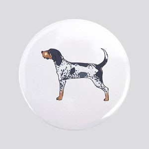 "BLUETICK COONHOUND 3.5"" Button"