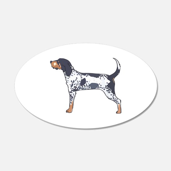 BLUETICK COONHOUND Wall Decal