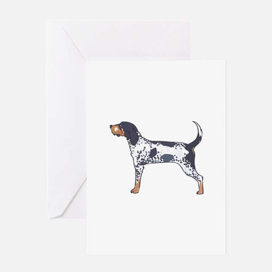 BLUETICK COONHOUND Greeting Cards