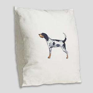 BLUETICK COONHOUND Burlap Throw Pillow
