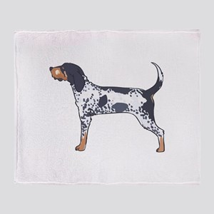 BLUETICK COONHOUND Throw Blanket