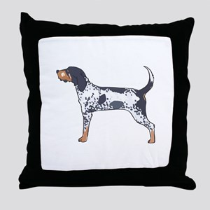 BLUETICK COONHOUND Throw Pillow