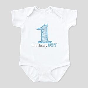 First Modern Birthday In Blue Body Suit