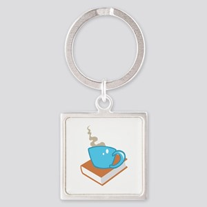 HOT COFFEE ON BOOK Keychains