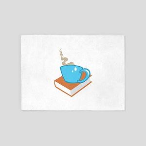 HOT COFFEE ON BOOK 5'x7'Area Rug