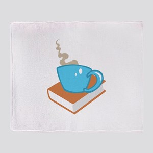 HOT COFFEE ON BOOK Throw Blanket