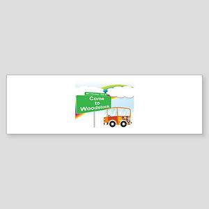Come to Woodstock Logo Bumper Sticker