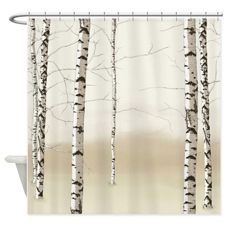 Birch Trees Shower Curtain By Simpleshopping