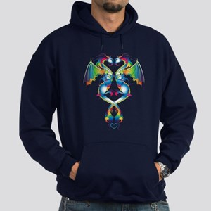Rainbow Love Dragons Hoodie (dark)