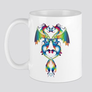 Rainbow Love Dragons Mug