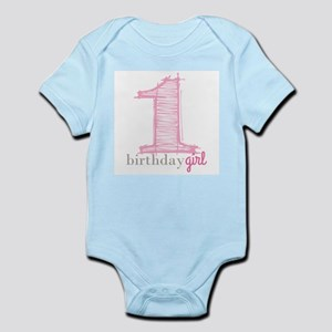 First Modern Birthday PINK Body Suit