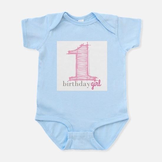 First Modern Birthday PINK Body Suit