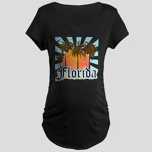 Florida The Sunshine State Maternity Dark T-Shirt