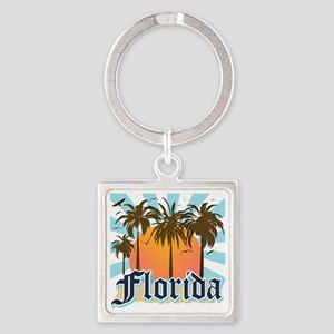 Florida The Sunshine State Square Keychain