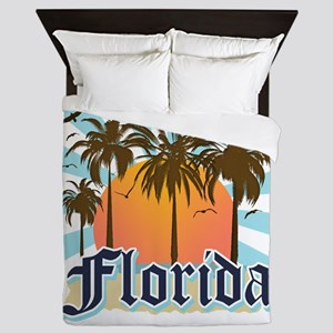 Florida The Sunshine State Queen Duvet