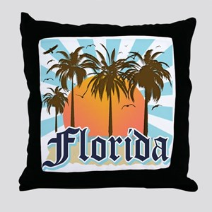 Florida The Sunshine State Throw Pillow