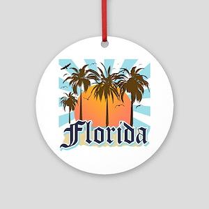 Florida The Sunshine State Round Ornament
