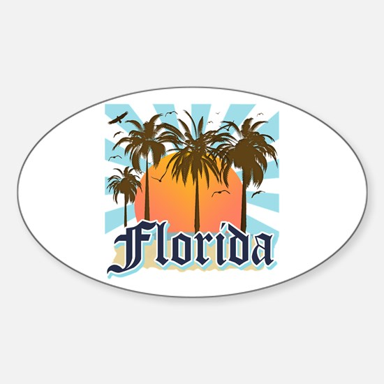 Florida The Sunshine State Sticker (Oval)