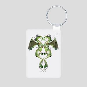 Earthen Love Dragons Aluminum Photo Keychain