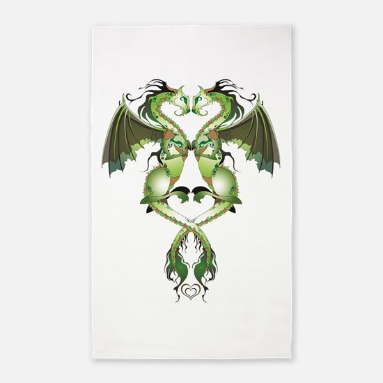 Earthen Love Dragons Area Rug